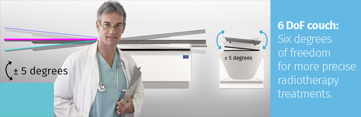 Radiotherapy robotic treatment couch